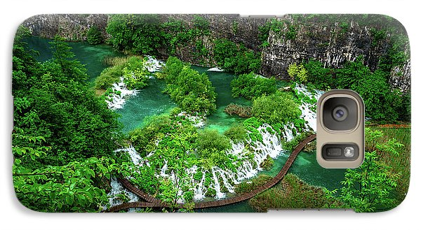 Above The Paths And Waterfalls At Plitvice Lakes National Park, Croatia Galaxy S7 Case