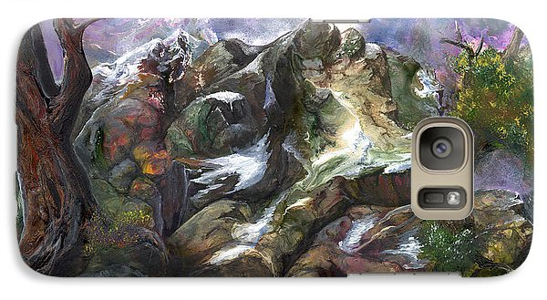 Galaxy Case featuring the painting Above The Timberline by Sherry Shipley
