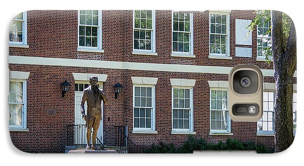 Galaxy Case featuring the photograph Abraham Baldwin Statue At Uga by Parker Cunningham