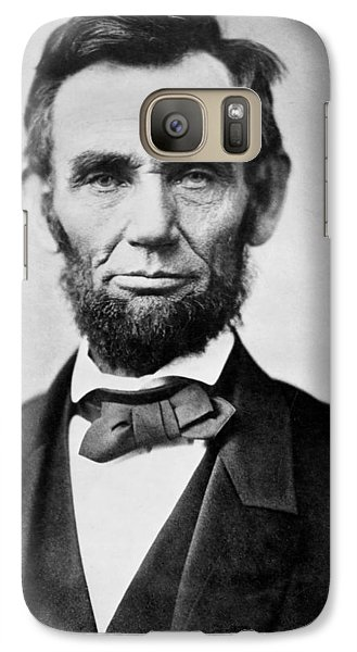 Galaxy Case featuring the photograph Abraham Lincoln -  Portrait by International  Images