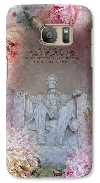 Lincoln Memorial Galaxy S7 Case - Abraham Lincoln Memorial At Spring by Marianna Mills