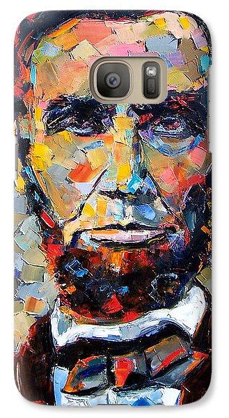 Abraham Lincoln Portrait Galaxy S7 Case by Debra Hurd