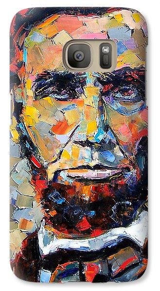 Impressionism Galaxy S7 Case - Abraham Lincoln Portrait by Debra Hurd