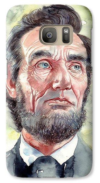 Abraham Lincoln Galaxy S7 Case - Abraham Lincoln Portrait by Suzann's Art