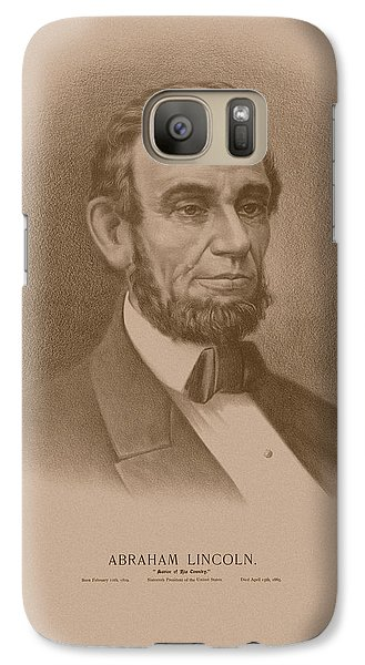 Abraham Lincoln Galaxy S7 Case - Abraham Lincoln - Savior Of His Country by War Is Hell Store