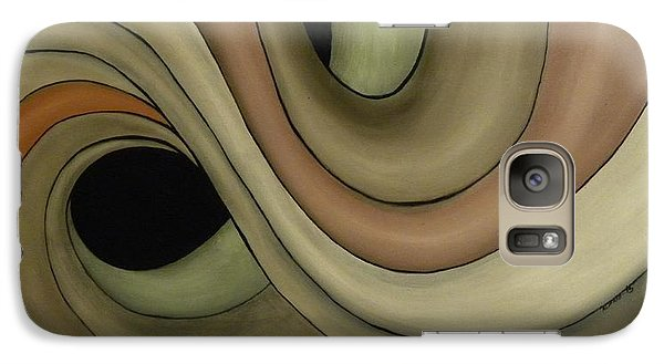 Galaxy Case featuring the painting Abstraccion  by Edwin Alverio