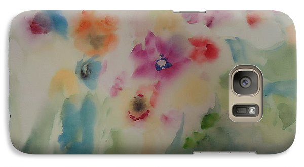 Galaxy Case featuring the painting Abstract 004 by Dongling Sun