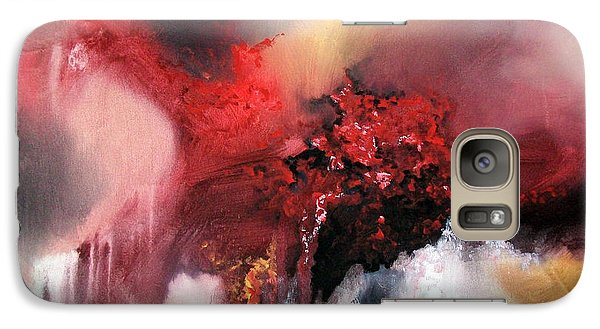 Galaxy Case featuring the painting Abstract #02 by Raymond Doward