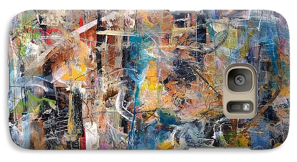 Galaxy Case featuring the painting Abstract #101514 by Robert Anderson