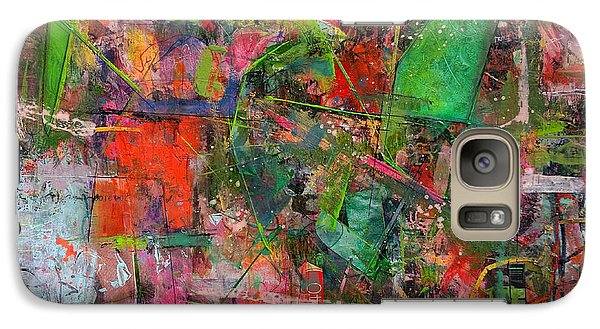 Galaxy Case featuring the painting Abstract #101614 by Robert Anderson