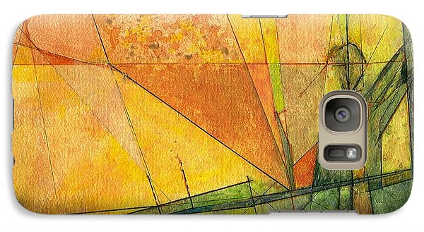 Galaxy Case featuring the painting Abstract #11 by Robert Anderson