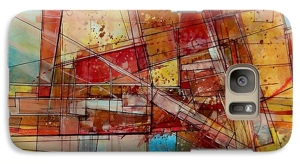 Galaxy Case featuring the painting Abstract #240 by Robert Anderson