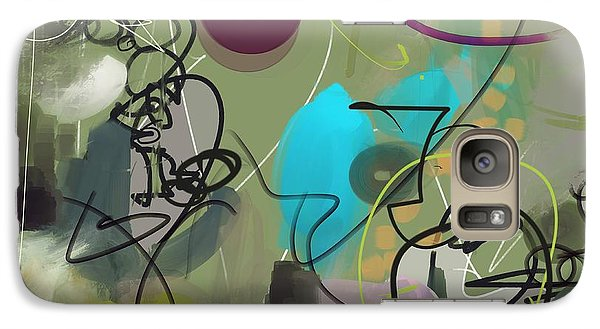 Galaxy Case featuring the painting Abstract #31315 by Robert Anderson