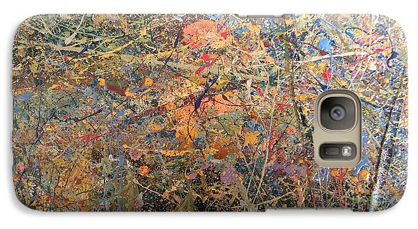 Galaxy Case featuring the painting Abstract #416 by Robert Anderson