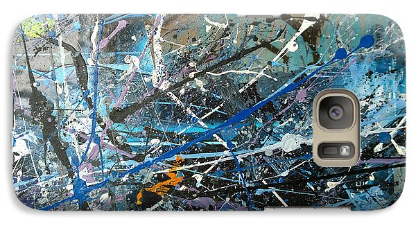 Galaxy Case featuring the painting Abstract #419 by Robert Anderson