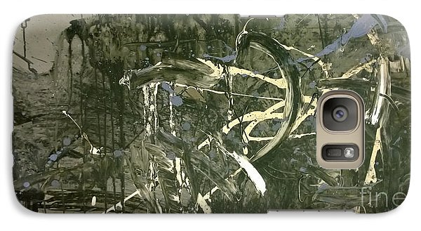 Galaxy Case featuring the painting Abstract #42015 Or Lock Ness In Town by Robert Anderson