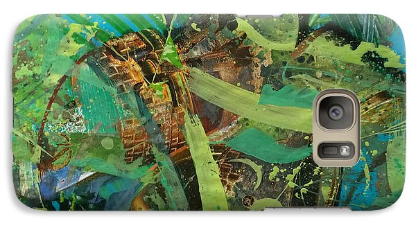 Galaxy Case featuring the painting Abstract #493 by Robert Anderson
