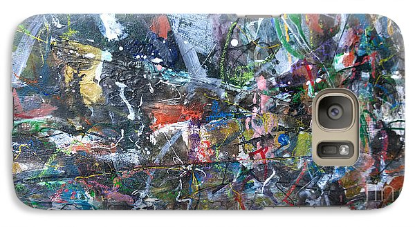 Galaxy Case featuring the painting Abstract #69 - Revised by Robert Anderson