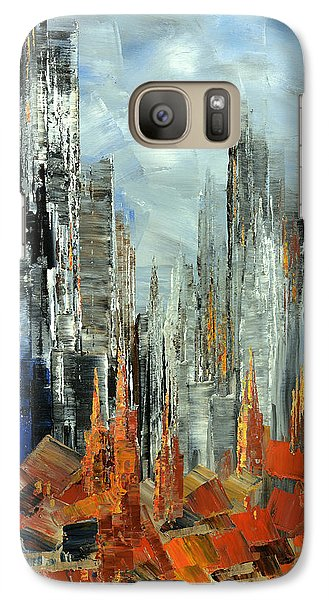 Galaxy Case featuring the painting Abstract Autumn by Tatiana Iliina
