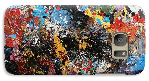 Galaxy Case featuring the painting Abstract Blast by Melinda Saminski