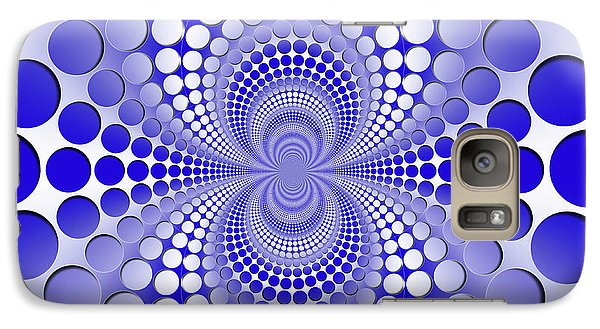 Abstract Blue And White Pattern Galaxy S7 Case