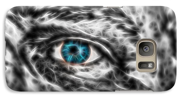 Galaxy Case featuring the photograph Abstract Blue Eye by Scott Carruthers
