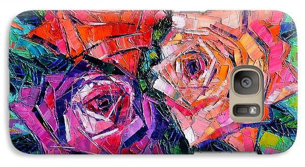 Rose Galaxy S7 Case - Abstract Bouquet Of Roses by Mona Edulesco