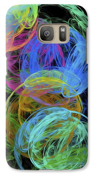 Galaxy Case featuring the digital art Abstract Bubbles by Andee Design