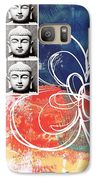 Religion Galaxy S7 Case - Abstract Buddha by Linda Woods