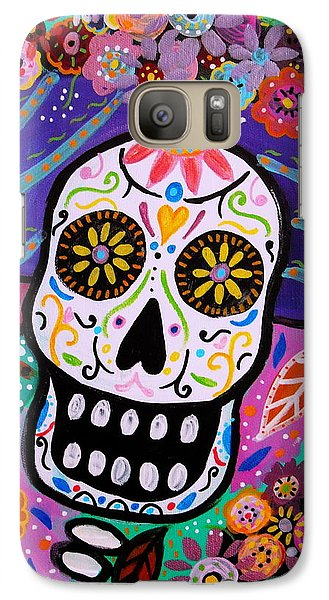 Galaxy Case featuring the painting Abstract Catrina by Pristine Cartera Turkus