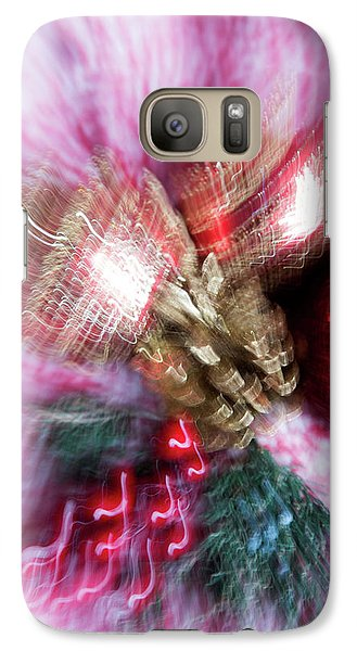 Galaxy Case featuring the photograph Abstract Christmas 5 by Rebecca Cozart