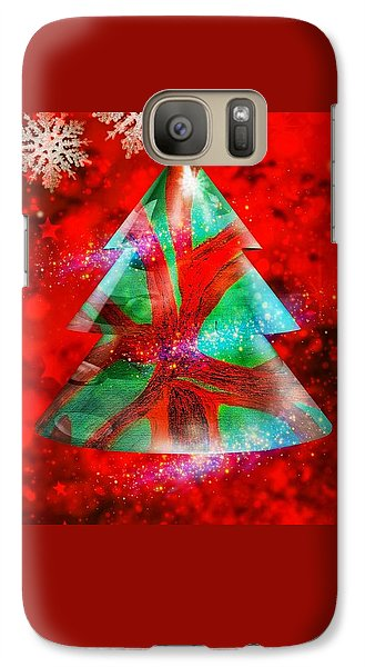 Abstract Christmas Bright Galaxy S7 Case