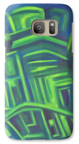Galaxy Case featuring the painting Abstract Cityscape Series IIi by Patricia Cleasby