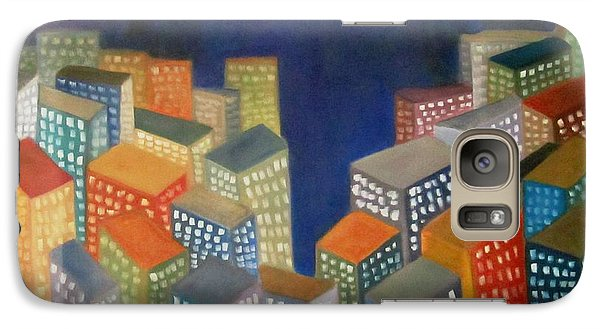 Galaxy Case featuring the painting Abstract Cityscape Series by Patricia Cleasby