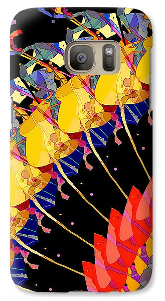 Galaxy Case featuring the digital art Abstract Collage Of Colors by Phil Perkins