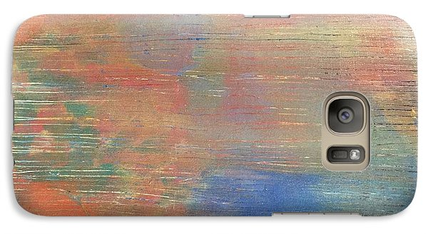 Galaxy Case featuring the painting Abstract Confetti 3 by Paula Brown