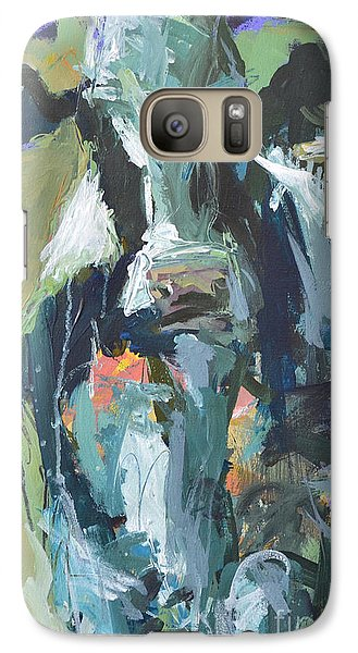 Galaxy Case featuring the painting Abstract Cow Painting by Robert Joyner