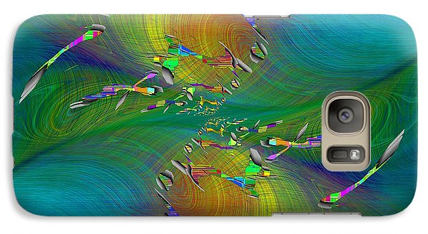 Galaxy Case featuring the digital art Abstract Cubed 359 by Tim Allen