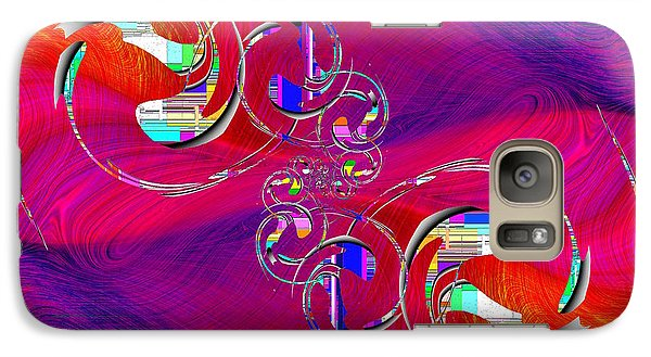 Galaxy Case featuring the digital art Abstract Cubed 360 by Tim Allen
