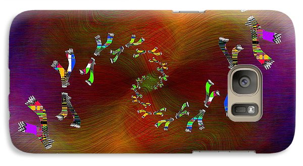 Galaxy Case featuring the digital art Abstract Cubed 375 by Tim Allen