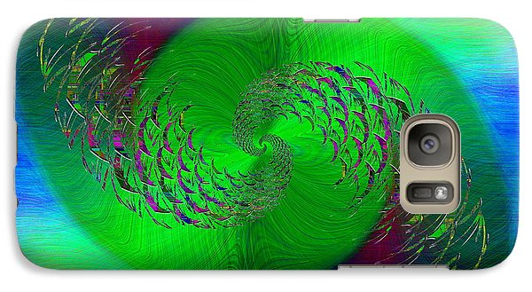 Galaxy Case featuring the digital art Abstract Cubed 378 by Tim Allen