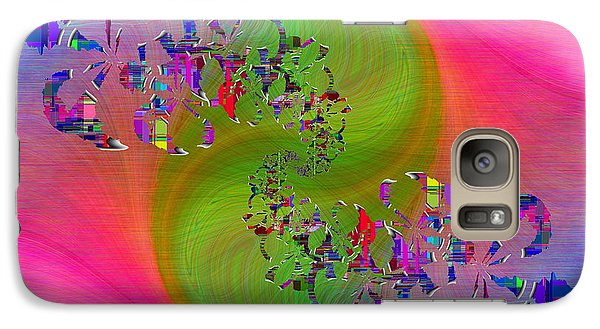 Galaxy Case featuring the digital art Abstract Cubed 381 by Tim Allen