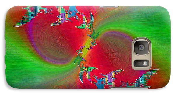 Galaxy Case featuring the digital art Abstract Cubed 383 by Tim Allen