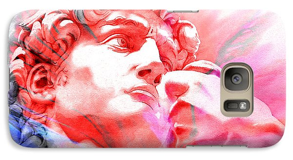 Galaxy Case featuring the painting Abstract David Michelangelo 1 by J- J- Espinoza