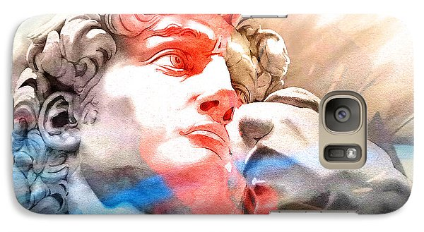 Galaxy Case featuring the painting Abstract David Michelangelo 2 by J- J- Espinoza