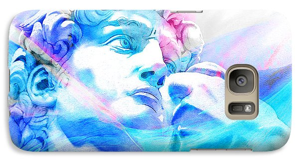 Galaxy Case featuring the painting Abstract David Michelangelo 3 by J- J- Espinoza