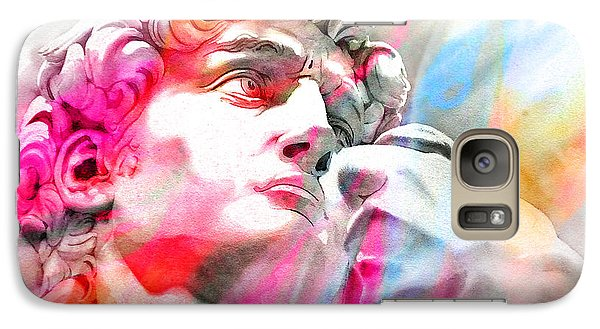 Galaxy Case featuring the painting Abstract David Michelangelo 4 by J- J- Espinoza