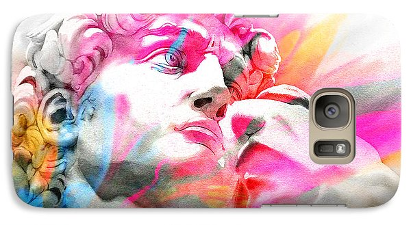 Galaxy Case featuring the painting Abstract David Michelangelo 5 by J- J- Espinoza