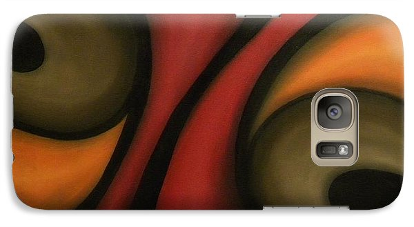 Galaxy Case featuring the painting Abstract by Edwin Alverio