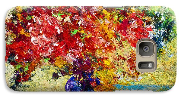 Abstract Floral 1 Galaxy S7 Case by Marion Rose